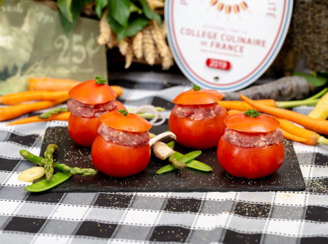 La ferme Grandvillain - Tomates Farcies Au Poulet Fermier - 4 X 175 G