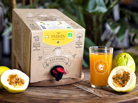 """Jus de fruits """"Ju"""" - Nectar De Fruit De La Passion Jaune Bio Du Pérou"""