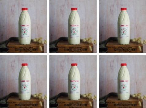Ferme Chambon - Lait Cru entier de Vache 6 x 1litre