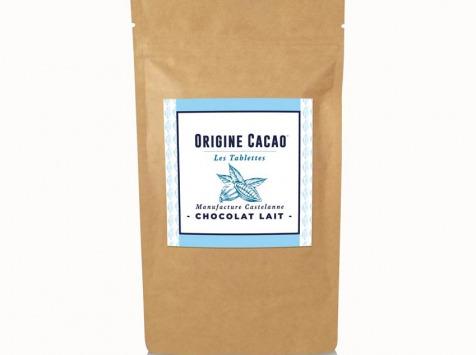 Maison Castelanne Chocolat - Tablette Lait Equateur 36% - Fèves Origine Bio