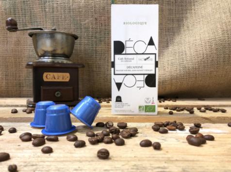 Cafés Factorerie - Capsules Colombie Décaféiné Bio - 10 capsules