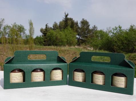 Le Ziboud'Terre - Producteur de figues - Coffret Cadeau Découverte ConFigue BIO - 6 pots