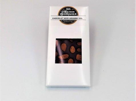 Maison Jonquier - Chocolat Noir aux Amandes – 62% de Cacao – 100g
