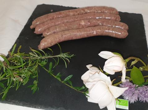 La Ferme du Montet - [SURGELÉ] Chipolatas Ail et Fines Herbes de Porc Noir Gascon BIO - 230 g