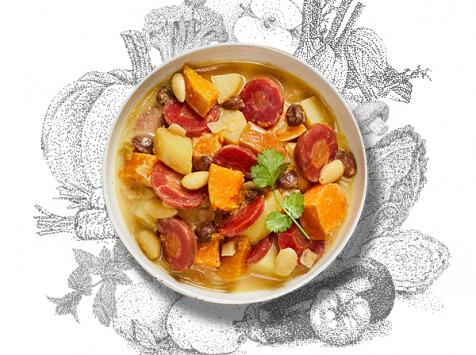 La Brouette - Pour 2 Pers. - Tajine De Butternut Aux Amandes Et Aux Raisins