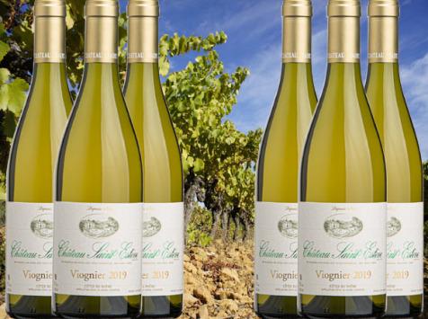 Château Saint Estève d'Uchaux - Viognier 100% Blanc Sec 2020 Anciennes Variétés AOP Côtes du Rhône x6