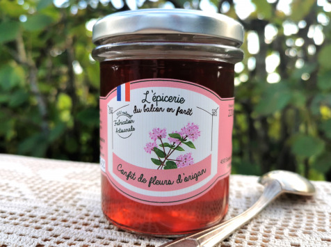 Le Balcon en Forêt - Confit de Fleurs d'Origan Sauvage - 220 g