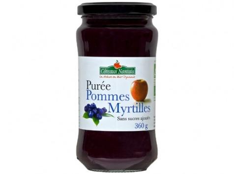 Les Côteaux Nantais - Purée Pommes Myrtilles 360g
