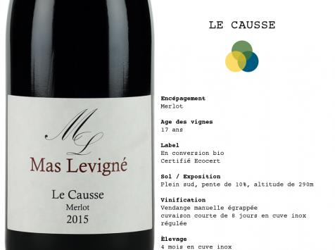 """Mas Levigné - Vins du Sud-Ouest, cuvée """"Le Causse"""" (x6)  IGP Côtes du Lot"""