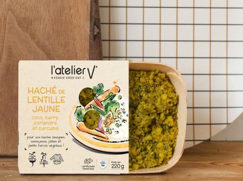 L'Atelier V* - Haché De Lentille Jaune, Curry, Coco, Coriandre, Et Curcuma