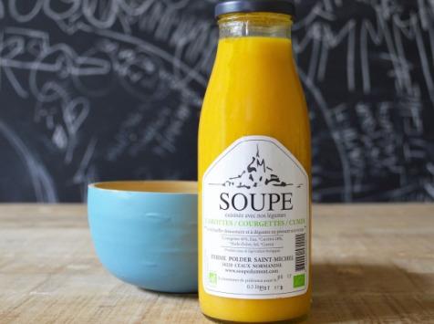 La Ferme du Polder Saint-Michel - Soupe Carotte - Courgette - Cumin  - 1l