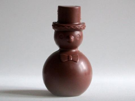 Mon jardin chocolaté - Bonhomme De Neige Chocolat Au Lait Sur Son Jardin De Mini-tablettes