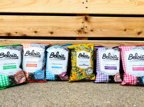 Chips BELSIA - Chips Artisanales : Nos 5 Saveurs (10 paquets)