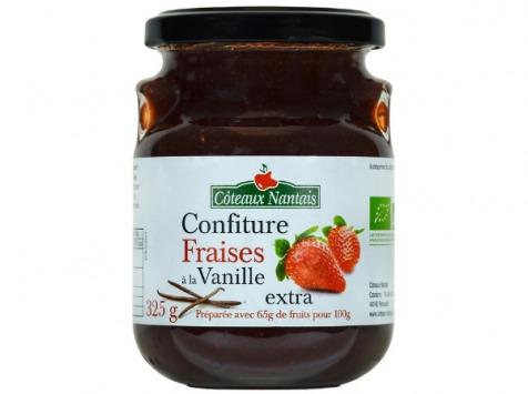 Les Côteaux Nantais - Confiture Fraises À La Vanille Extra 325g