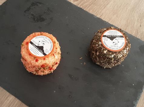 Gourmets de l'Ouest - Duo de crottins de chèvre au lait cru
