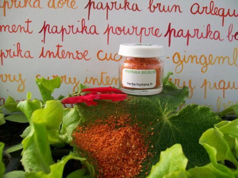 HERBA HUMANA - Paprika Belrubi Cultivé en France 3g