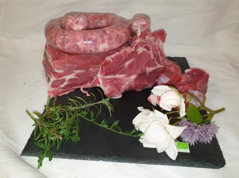 La Ferme du Montet - [SURGELE] Colis de Porc Noir Gascon BIO - 5 kg