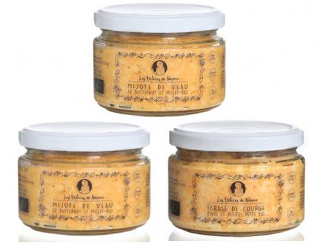 Les délices de Noémie - Petits Pots Bébé 12 Mois: Mijoté De Veau Au Butternut X2, Ecrasé De Courge Petites Pâtes X 1