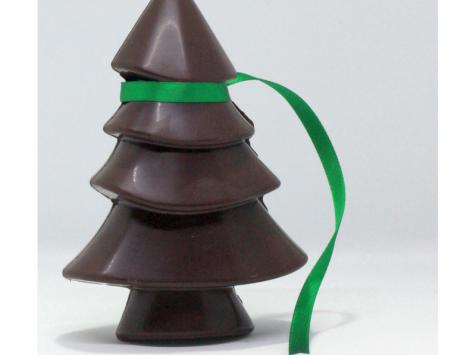 Mon jardin chocolaté - Sapin De Noël Chocolat Noir Sur Son Jardin De Mini-tablettes