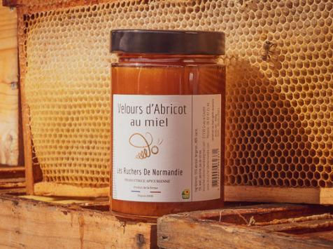 Les Ruchers de Normandie - Velours d'Abricot au miel 460g