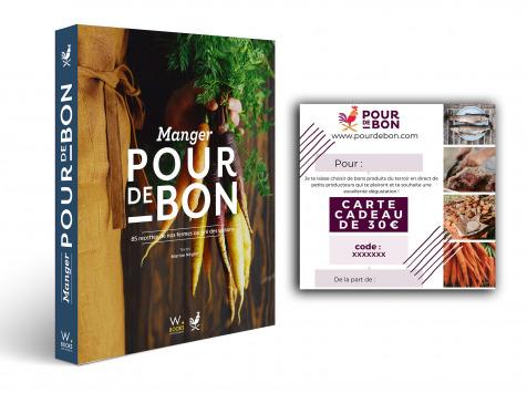 Pourdebon - Pack Livre Manger Pour de Bon + 30€ de chèque cadeau