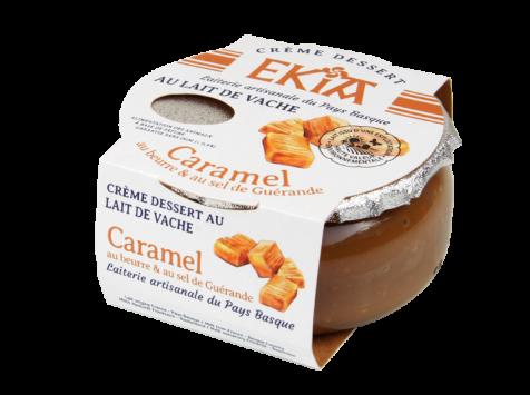 BASTIDARRA - Crème Dessert Caramel Beurre Salé 125gr - Colis 8 Pots