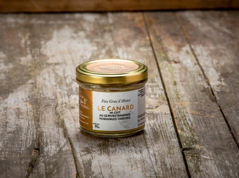 La Ferme Schmitt - Foie Gras de Canard d'Alsace Mi-cuit au Gewurztraminer Vendanges Tardives, en verrine de 85 g