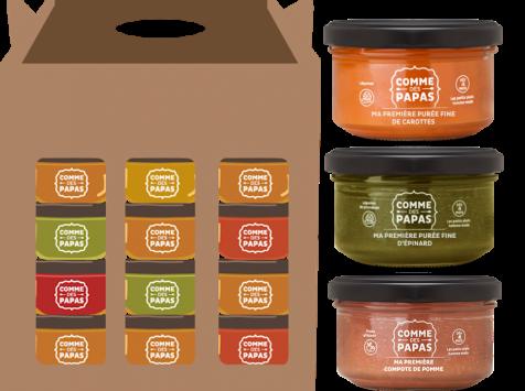 Comme des Papas - Pack 10 Pots Bébé (dès 4 Mois): 3 x butternut, 3 x panais, 2 x carottes, 2 x pomme
