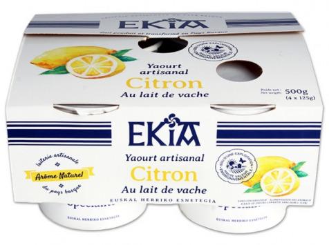 BASTIDARRA - Yaourt Citron 4*125 gr
