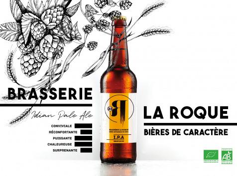 La Roque  Brasserie Bio, paysanne et familiale - Bière I.P.A 12x33cl - Brasserie Fermière Bio