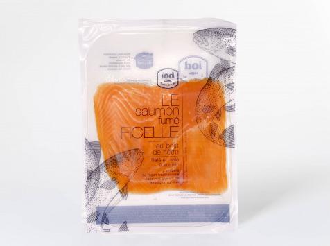 ÏOD - Émincés de saumon fumé aromatisé pistache 120g