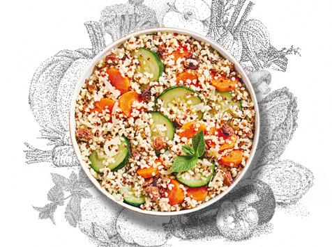 La Brouette - Pour 1 Pers, Légumes Al Dente À La Menthe Fraîche, Boulghour & Quinoa