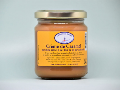 Artisans du Sel - Crème de Caramel au Beurre Salé et à la Fleur de Sel de Guérande 240g