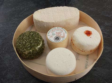 Chèvrerie des Brosses - Plateau De 5 Fromages De Chèvres
