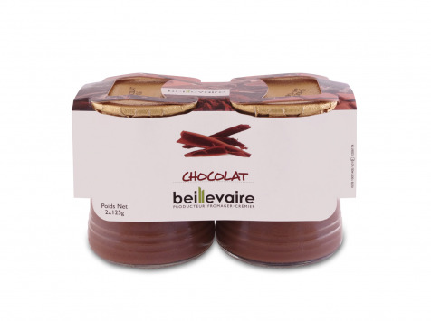 BEILLEVAIRE - Crèmes desserts x2 - Chocolat