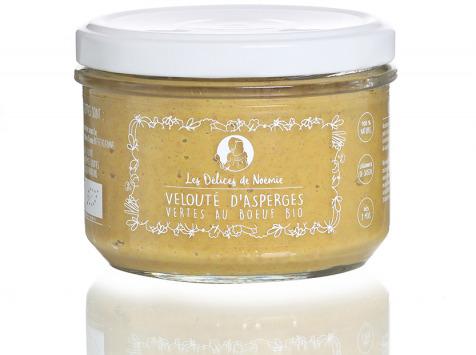 Les délices de Noémie - Petits Pots Bébé 8 mois : Lot de 3 Velouté d'asperges vertes au bœuf haché Bio