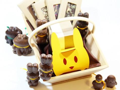 Mon Jardin Chocolaté - Panier De Pâques - Grande Famille (2 Adultes Et 3 Ou 4 Enfants)