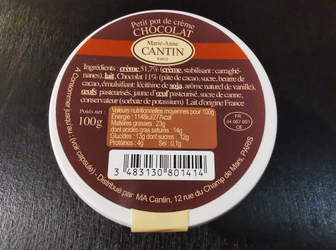 La Fromagerie Marie-Anne Cantin - Petit Pot De Crème Chocolat
