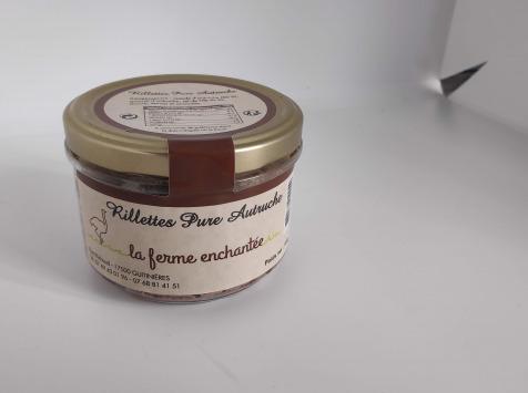 La Ferme Enchantée - Rillettes Pure Autruche - 180 gr