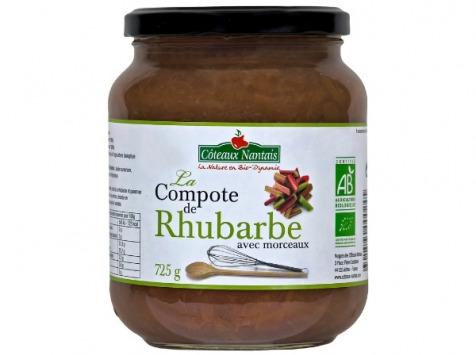 Les Côteaux Nantais - Compote Rhubarbe 725g