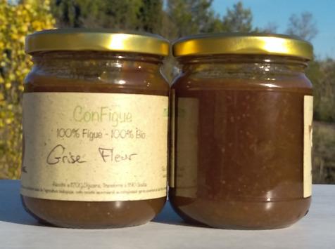 Le Ziboud'Terre - Producteur de figues - .ConFigue de Figue Grise fleur Bio 200 g