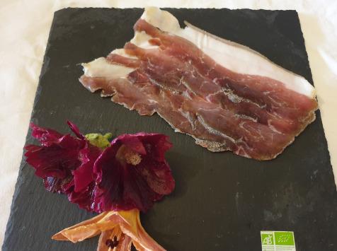 La Ferme du Montet - Jambon sec - tranches - bio - porc noir gascon