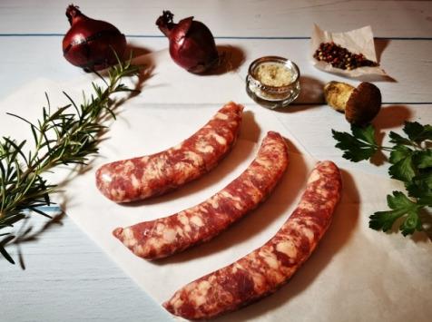 La Ferme Celtique - 4 Saucisses de Porc Blanc de L'Ouest Élevé en Plein Air - environ 510 gr - en Conversion BIO