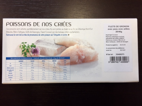 AQUADIS NATURELLEMENT - [surgelé] Filets De Rouget Grondin 20/40gr