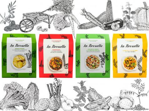 La Brouette - Pour 8 Pers. - Fenouil + Ratatouille + Légumes Al Dente + Curry Doux De Légumes