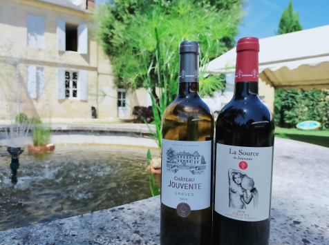 Château Jouvente - Offre Découverte AOC Graves : Blanc et Cuvée La Source Rouge