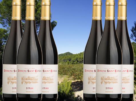 Château Saint Estève d'Uchaux - AOP Côtes du Rhône Syrah Rouge 2019 BIO x6