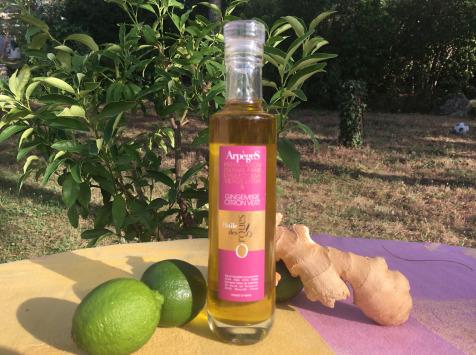 Huile des Orgues - Huile d'Olive Parfumée au Gingembre Vert - 200 ml
