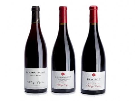 Domaine TUPINIER Philippe - Lot De 3 Vins Rouges : Bourgogne, Côte D'Auxerre, Irancy AOC - 3 Bouteilles