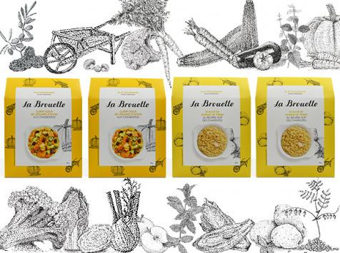 La Brouette - Pour 8 Pers. - 2 X Curry Doux + 2 X Ecrasé De Pomme De Terre - Convient aux végétariens